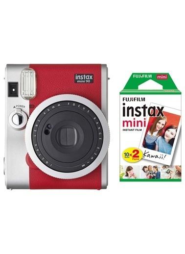 Instax Instax Neo 90 Classic Kırmızı Fotoğraf Makinesi Ve 20'Li Mini Film Kırmızı